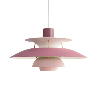 Poul Henningsen Ph 5 Pendant for Louis Poulsen in Rose For Sale
