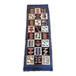 "Geometric Wool Rug-1'10'x5'1"" For Sale"