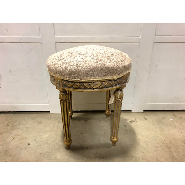 Early 20th Century Vintage French Round Small Bench For Sale - Image 5 of 5