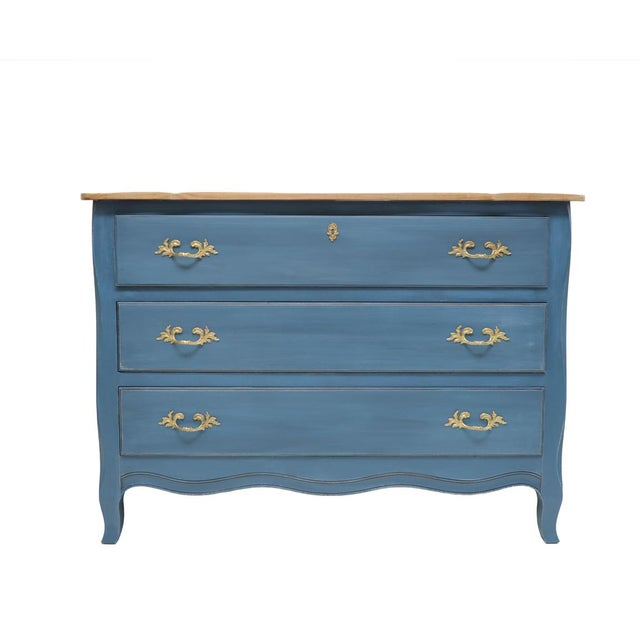 Wood Drexel Heritage French Provincial Style Chest For Sale - Image 7 of 7