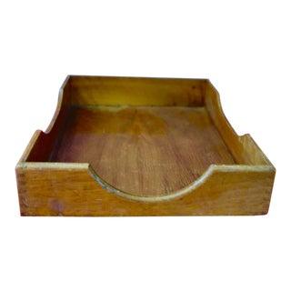 Vintage Oak Desk Letter Tray For Sale
