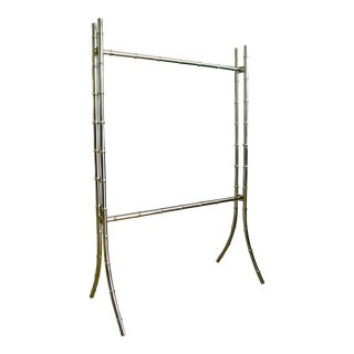 Faux Bamboo Gold Towel / Quilt Stand For Sale
