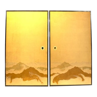 20th Century Fusuma Sugi Sliding Doors - A Pair For Sale