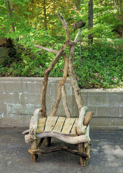 This Offering Is For A Hand Crafted John Scarola Driftwood Throne Chair.  Much Like A