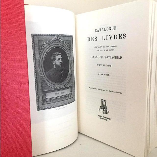 Catalogue des Livres Composant la Bibliothèque de feu M. le Baron James de Rothschild Picot, Emile [Editeur] Published by...