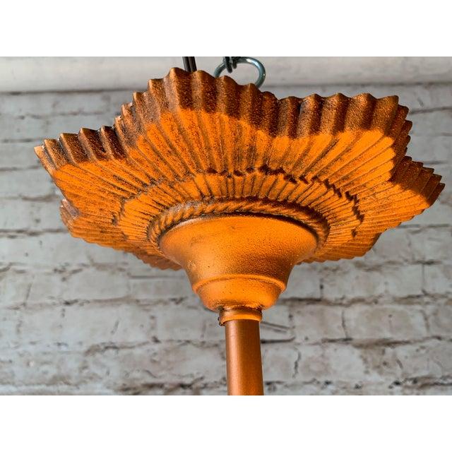 """1930s 1930s Art Deco 5 Light Virden """"Rayburn"""" Chandelier For Sale - Image 5 of 6"""