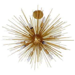 Magnificent Gold Sputnik Chandelier