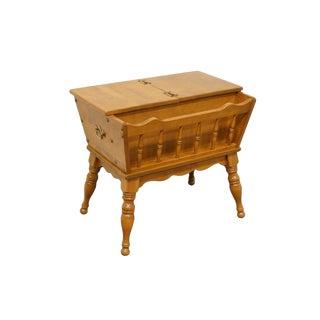 Mid Century Vintage Ethan Allen Heirloom Nutmeg Maple Doughbox Side Table For Sale