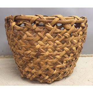 Antique Woven Rattan Basket Preview