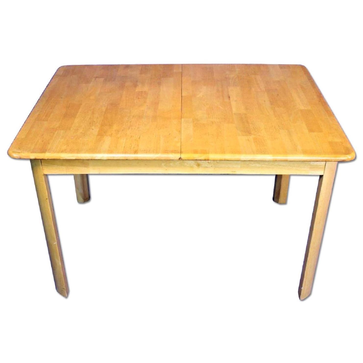 Mid-Century Modern Wooden Dining Kitchen Table