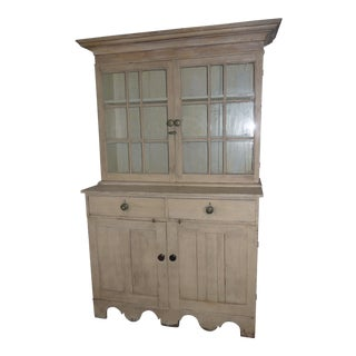 19th Century Shabby Chic Step Back Cupboard For Sale