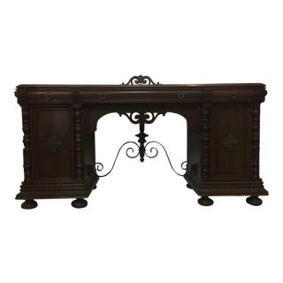 Dark Wood Sideboard Cabinet For Sale