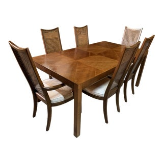 Baughman Style Mid-Century Modern American of Martinsville Dining Table and Chairs -- Set of 7 For Sale