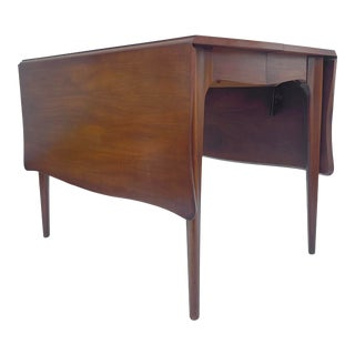 Mid-Century Drop Leaf Dining Table With Leaves by John Van Koert for Drexel For Sale