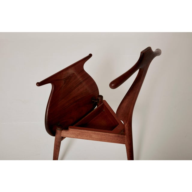 Brass Hans Wegner Valet Chair, Made by Johannes Hansen, Denmark, 1950s-1960s For Sale - Image 7 of 11