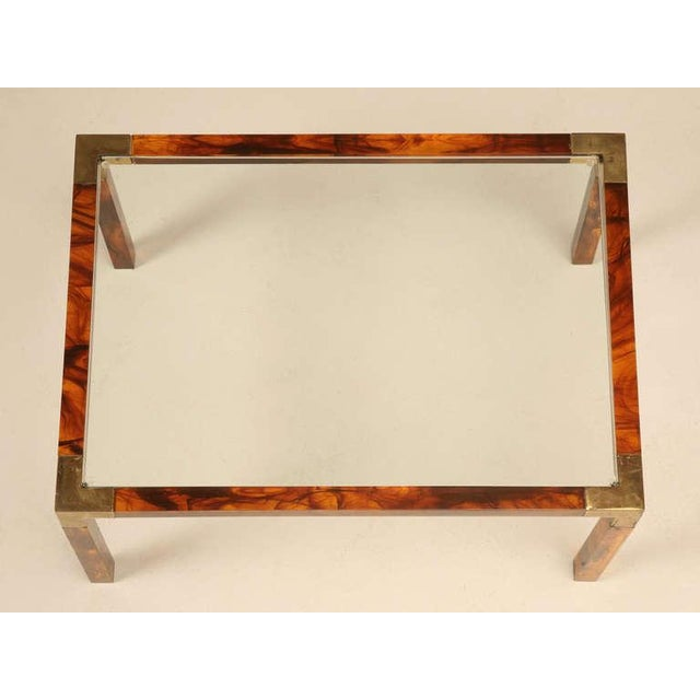 1960s Circa 1960s Faux Tortoise Shell Coffee Table For Sale - Image 5 of 10