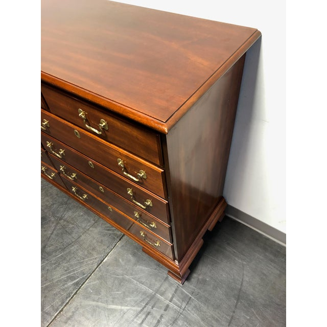 Brass Councill Craftsmen Solid Mahogany Chippendale Dresser For Sale - Image 7 of 13