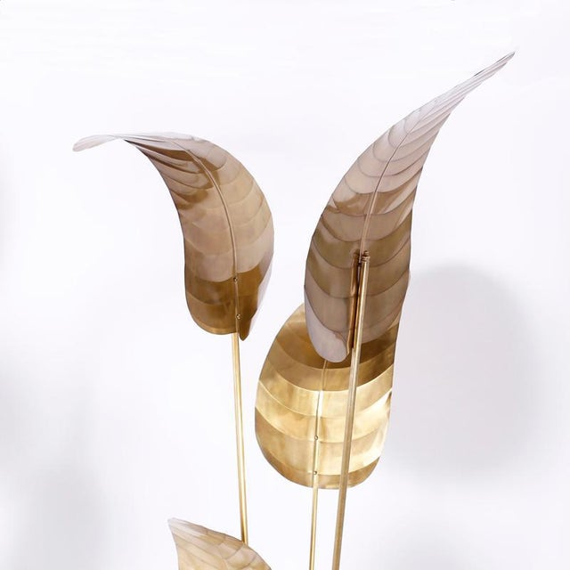 Mid-Century Modern Tall Midcentury Palm Leaf Sculptures - A Pair For Sale - Image 3 of 10