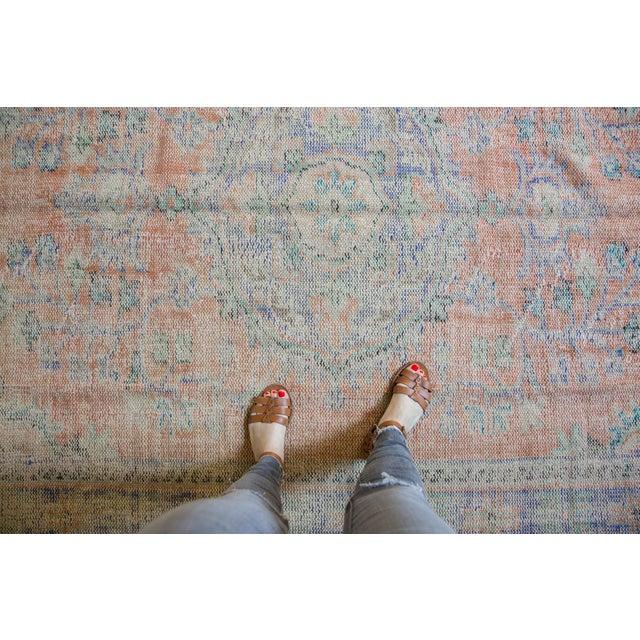 "Vintage Distressed Oushak Carpet - 6'2"" X 9'8"" For Sale - Image 9 of 13"