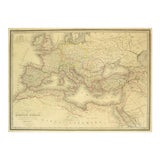 Image of Antique Roman Empire Map, 1838 For Sale