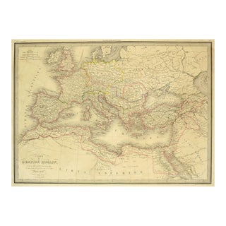 Antique Roman Empire Map, 1838