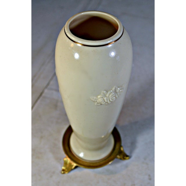 Vintage Lenox Porcelain Rosebud Vase For Sale In Miami - Image 6 of 8
