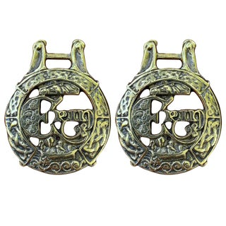 Pair of Celtic Horse Brasses For Sale
