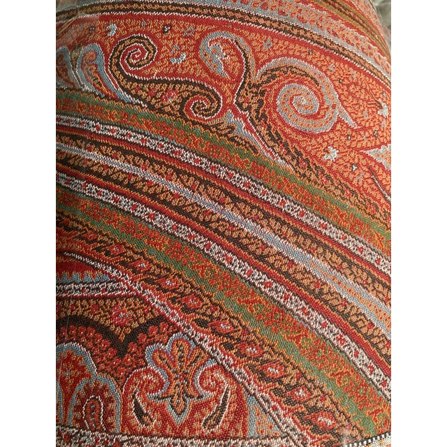 Paisley Wool Antique Fabric Lamp Shade For Sale In Philadelphia - Image 6 of 6