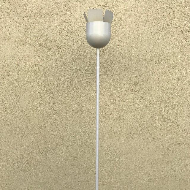 Italian Relco Italian White Metal Floor Lamp For Sale - Image 3 of 10