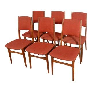 Johannes Andersen Danish Modern Teak Dining Chairs - Set of 6 For Sale