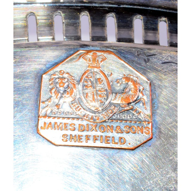 James Dixon & Sons for Sheffield Silver-Plate Tray For Sale - Image 10 of 10