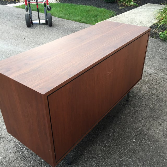 Brown 1960s Mid-Century Modern Florence Knoll Credenza For Sale - Image 8 of 11