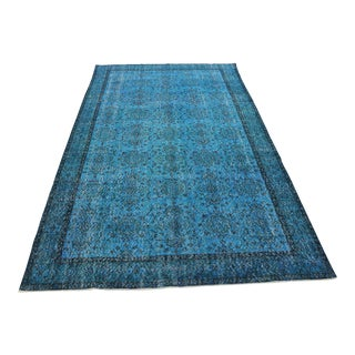 Oriental Turkish Overdyed Rug- 6′ × 9′11″ For Sale