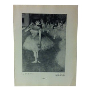 "Circa 1940 ""L' Etoile"" by Edgar Degas Masterpiece of Art Print For Sale"