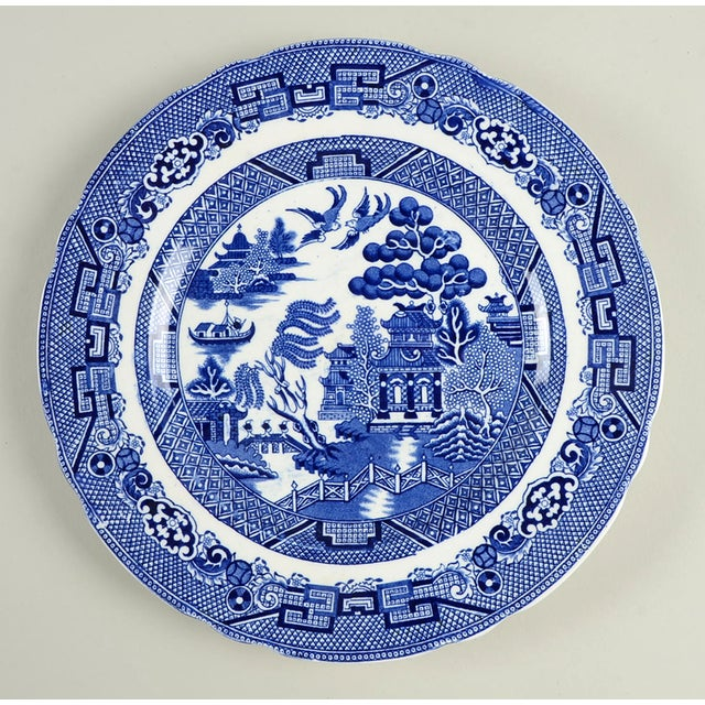 Early 20th Century Vintage Mixed Flow Blue Dinner Plates - Set of 8 For Sale - Image 5 of 10