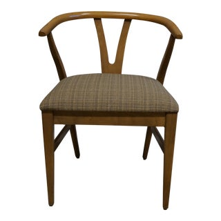 Wishbone Style Mid-Century Chair For Sale