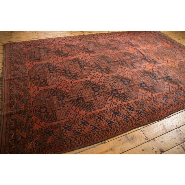 "Vintage Ersari Carpet - 7'6"" X 11'4"" For Sale - Image 9 of 12"