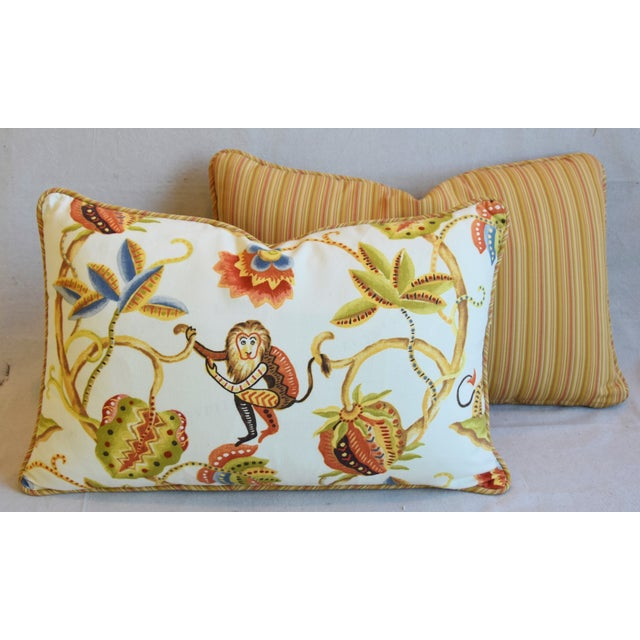 "P. Kaufmann Bazaar Paradise Animal Feather/Down Pillows 26"" X 17"" - Pair For Sale - Image 11 of 13"