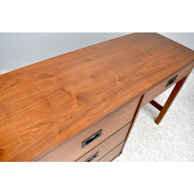 Mid Century Campaign Style Desk by Drexel For Sale - Image 10 of 13