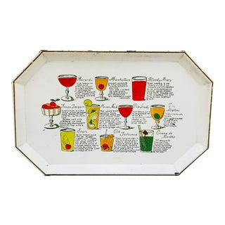 Vintage Cocktail Tray For Sale