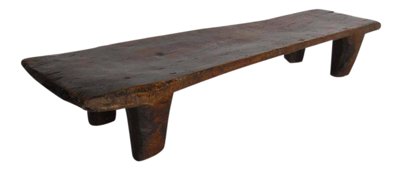 Antique Wood Nupe Bench Or Coffee Table   Image 1 Of 9