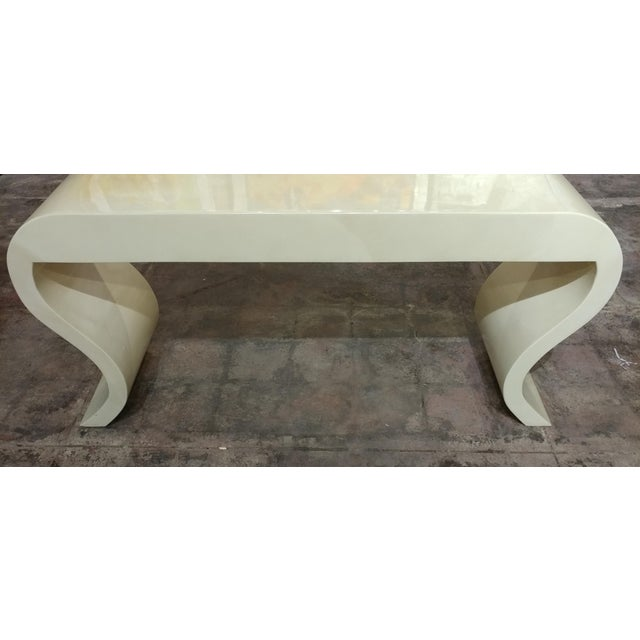 Animal Skin Lacquered Goat Skin Console Table For Sale - Image 7 of 8