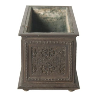 A French Gothic Revival Bronze Planter For Sale