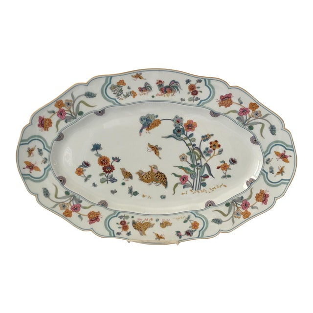 "Haviland Limoge ""Golden Quail"" Oval Platter For Sale"
