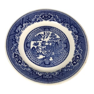 1960s Vintage Blue and White Plate Rc Union Made Sebring Oh For Sale