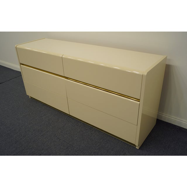 Altavista Lane Lane Furniture Contemporary Cream/Off White Lacquered Double Dresser For Sale - Image 4 of 13