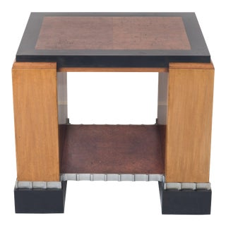 Paul Frankl Machine Age Art Deco Met Life Skyscraper Library Occasional Table For Sale