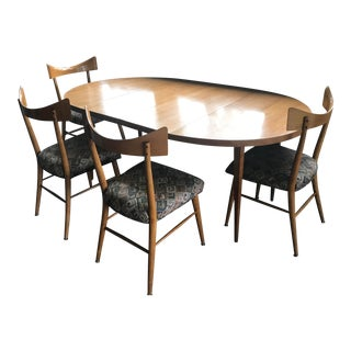 Paul McCobb Mid-Century Modern 5 Piece Dining Set With 2 Table Leaves For Sale