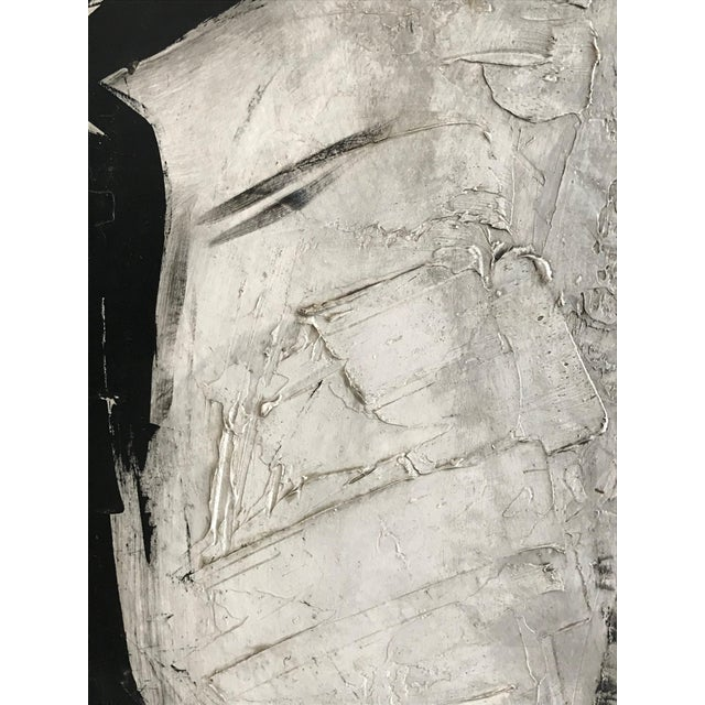 1960s 1960s Abstract Black and White Painting by Graham Harmon For Sale - Image 5 of 9