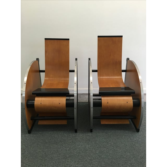 Art Deco Theater-Style Art Deco Loungers - A Pair For Sale - Image 3 of 5